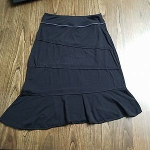 Athleta Athletic Black Asymmetric Ruffle Skirt